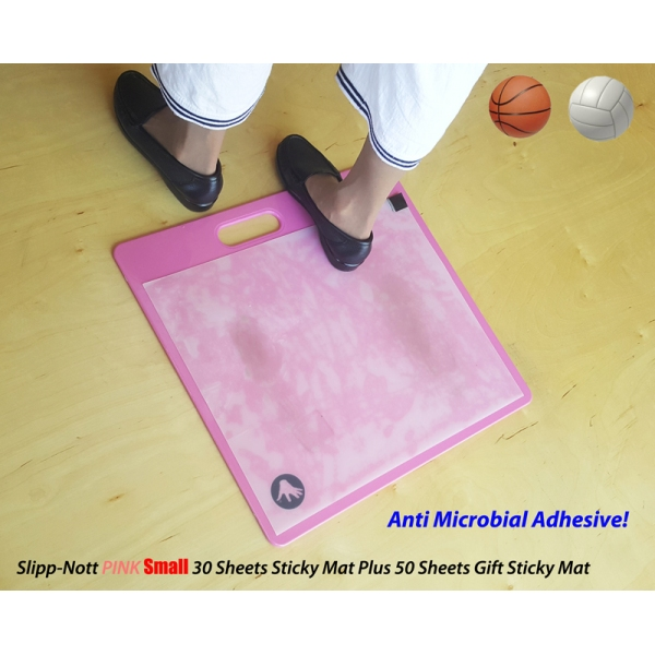 Slipp-Nott PINK Sticky Mat with Anti-Microbial Adhesive 30 Sticky Sheets Plus Gift 50 Sticky Sheets