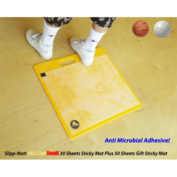 Slipp-Nott Yellow Sticky Mat with 30 Anti-Microbial Sticky Sheets Plus Gift 50 Sticky Sheets