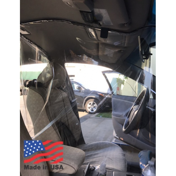 Universal Fit Car Driver Plastic Film Isolation Protective Partition PreCut Double STITCH Uber Lyft