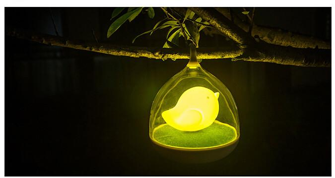 Touch Control Bird LED Light
