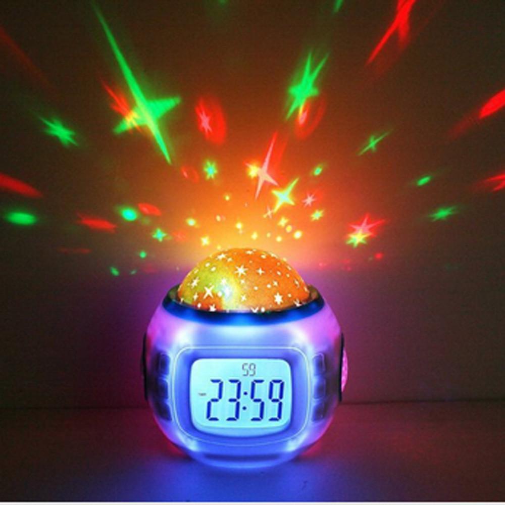 Galaxy Musical Night Light and Alarm Clock